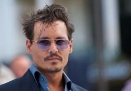 Johnny Depp on the set of 'Mortdecai' in London