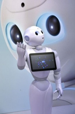 'Take your clothes off, be like me!' says wise-cracking robot