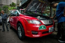 Hong Kong launches first electric taxis