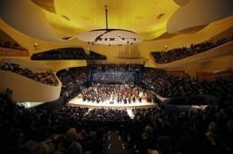 The Orchestre de Paris performing during the Paris Philharmonie's gala opening, January 14, 2015 ©AFP PHOTO / POOL / CHARLES PLATIAU