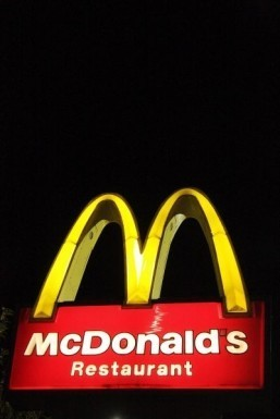 A US McDonald's hosting candlelit dinner for Valentine's Day