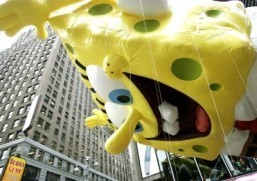 SpongeBob SquarePants, shown here at a Macy's Thanksgiving Day Parade, is headed to Broadway. ©AFP PHOTO/Timothy A. CLARY