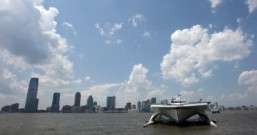 World's largest all-solar-powered boat shines in NYC