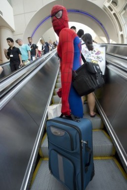 Photo of the day: Spider-Man – ordinary commuter?