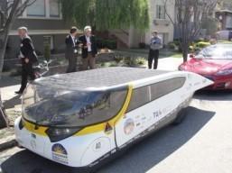 Solar-powered family car Stella rides California coast