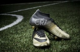 Nike honors Cristiano Ronaldo with gold and diamond soccer boots