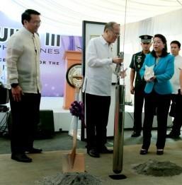 Aquino, Sereno lead groundbreaking of state-of-the-art SC complex in Taguig