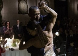 Obama's tango partner dances to lofty record