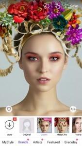 Laurel DeWitt creates makeup looks for Perfect365
