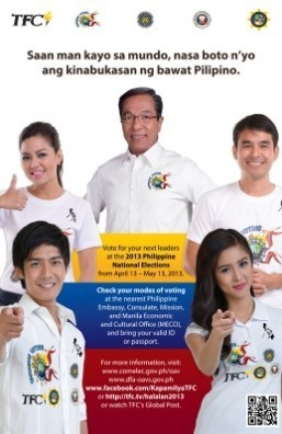TFC, COMELEC and DFA-OAVS partner to promote overseas voting for  2013 Philippine elections