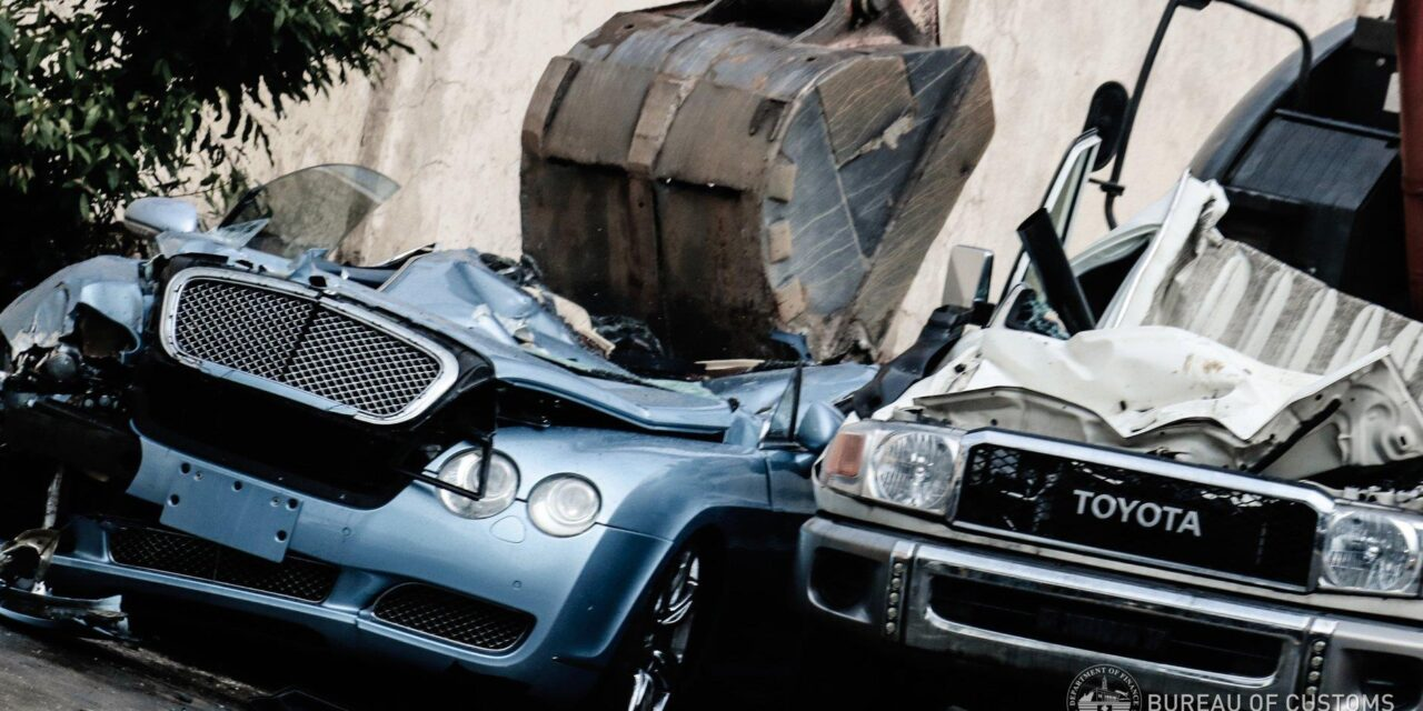 BOC destroys P45-M forfeited vehicles