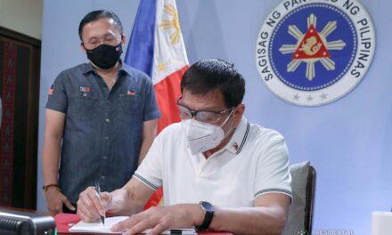 PRRD inks indemnity fund bill into law