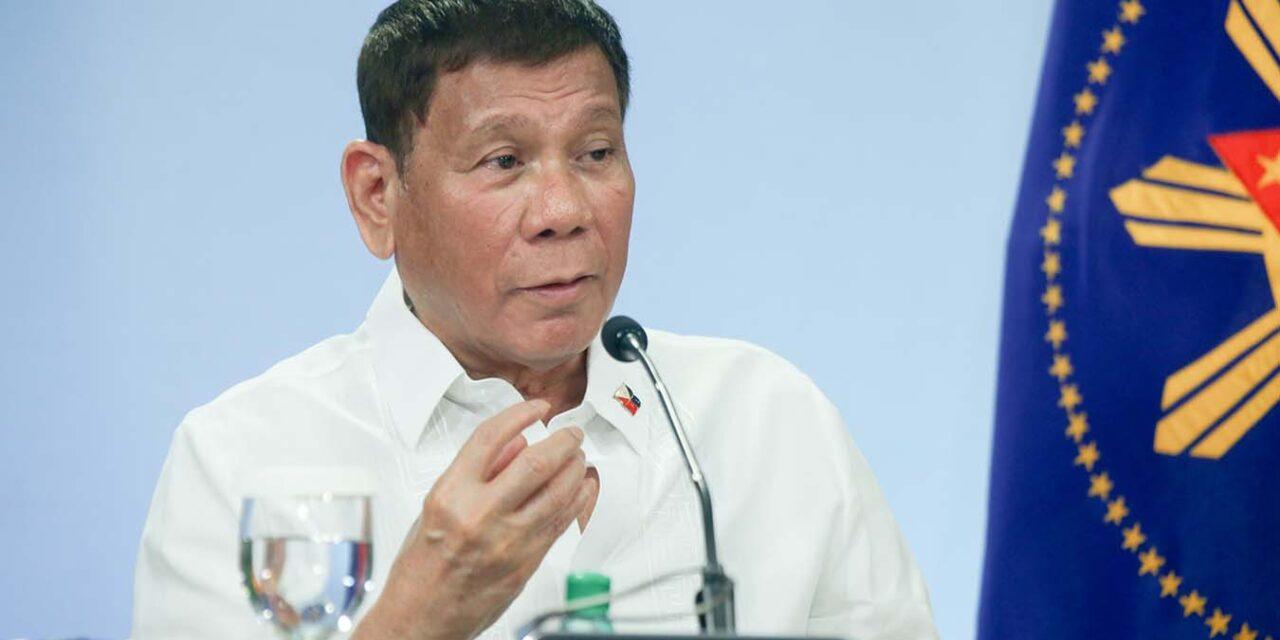 Duterte wants Pfizer COVID-19 vaccine for indigent population