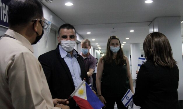 ISRAELI EXPERTS ARRIVE IN PH TO HELP IN VACCINE ROLLOUT
