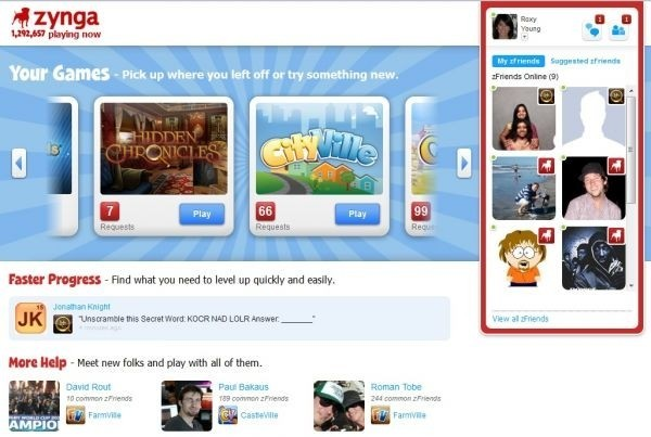 Facebook game maker Zynga launches its own social games platform, Zynga.com