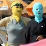 The 'face-kini': China's new beach trend