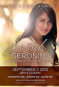 Sarah Geronimo to have 2 shows at Pechanga Theater