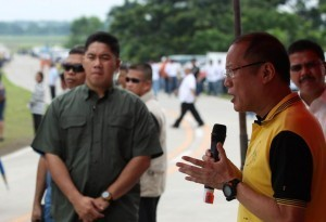 President Aquino inaugurates newly constructed by-pass road in Candelaria, Quezon