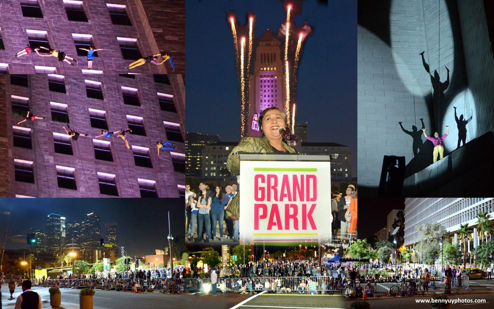 Los Angeles Grand Park opening led by Bandaloop