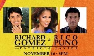 Richard Gomez, Rico Puno, and Patricia Javier performs at Pechanga