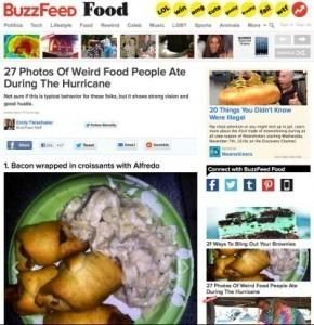 Hurricane Sandy survivors post photos of their 'storm meals'