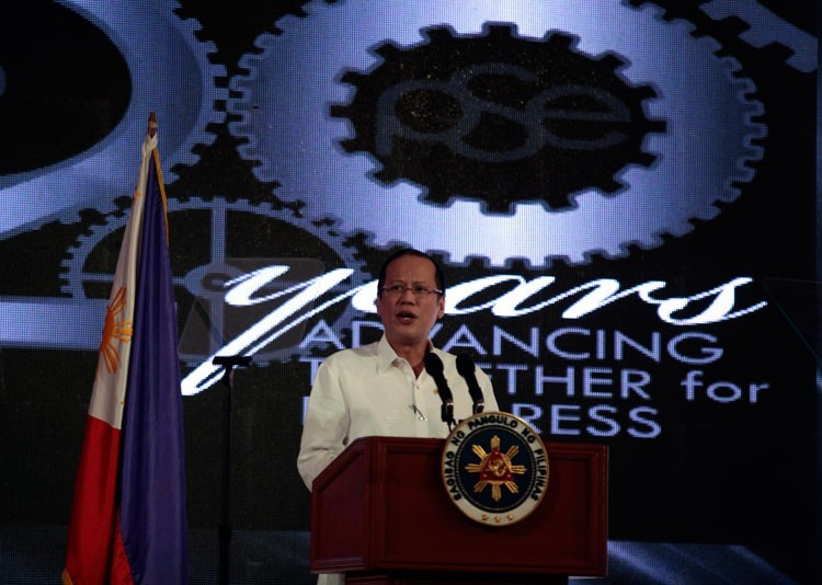 President Aquino urges Filipinos to continue working harder to build greater economic progress for the country