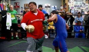 PACMAN and his Filipino Personal Trainor, Boboy Fernandez reveals the essence of a true Filipino spirit