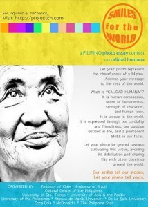 """""""SMILES FOR THE WORLD"""": A FILIPINO ESSAY CONTEST ON CALIDAD HUMANA"""