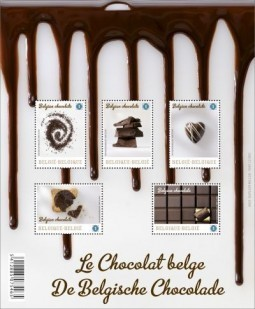 Belgian chocolate stamp has it licked