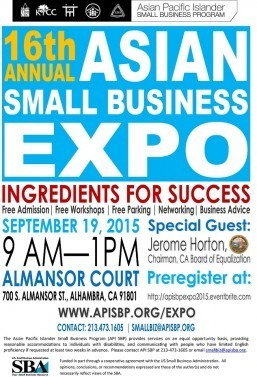 All roads lead to The Annual Asian Small Business Expo this Saturday in Alhambra
