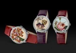 "Swiss watchmaker Vacheron Constantin presents three new models from its ""Métiers d'Art Florilège"" collection. ©Vacheron Constantin"