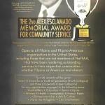 NaFFAA calls for nominees to the Alex Esclamado Memorial Award for Community Service