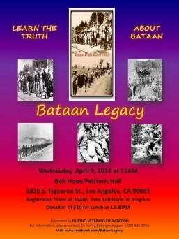 Filipino Veterans Foundation presents Bataan Legacy April