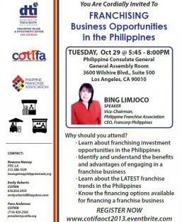 You Are Cordially Invited To FRANCHISING Business Opportunities in the Philippines