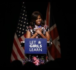 Michelle Obama champions $200-M plan for girls' education