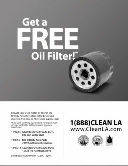 LA County to host used oil and filter recycling event in Lawndale