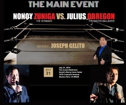 'The Main Event' at Knotts Berry to settle issues between N. Zuniga and J. Obregon