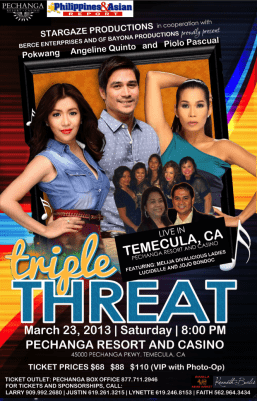 Ang Triple Threat 2013 US Tour ay darating sa Pechanga Resort & Casino