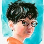 Harry Potter readied for watercolor adventures