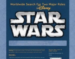 'Star Wars 7': Disney opens two major roles to online auditions