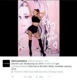 Ariana Grande is the new Viva Glam spokesperson for MAC