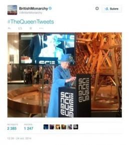 Britain's Queen Elizabeth sends first tweet
