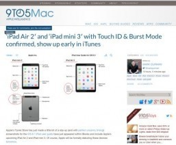 Apple leaks iPad Air 2 and iPad mini 3