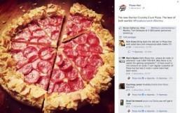 Pizza Hut Australia debuts Doritos-crust pizza
