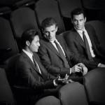 Actors Matt Bomer, Chen Kun and Dan Stevens star in the new Armani campaign
