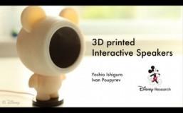 Disney develops 3D-printed interactive speakers