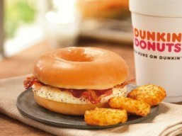 Dunkin' Donuts rolls out glazed donut, bacon and egg sandwich