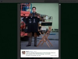 Henry Cavill dons Clark Kent duds for Twitter