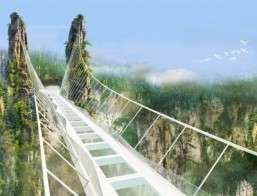 China set to open world's highest glass-bottomed bridge