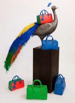 Loewe features electric hues in new handbag collection